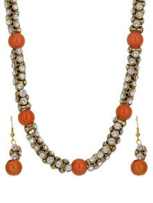 Gold & Orange Necklace Set - Luxor