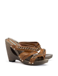 Cut Out Wedge Heels With Chain Detail - CATWALK