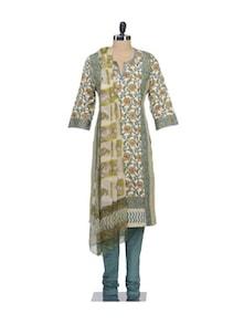 Feminine Floral Print Suit Set - KILOL