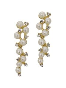 Golden & White Pearl Magic Earrings - YOUSHINE