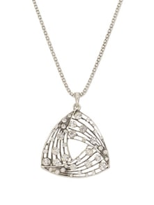 Oxidized Silver Pendant Necklace - YOUSHINE