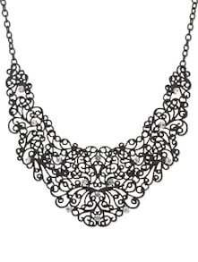 Black Metal Mesh Necklace - YOUSHINE
