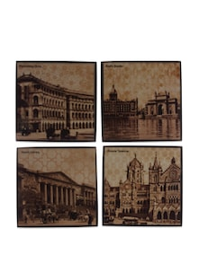Set Of Four Once Upon A Time In Bombay Coasters - The Bombay Store