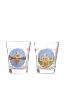 Set Of Two Taj Mahal Shot Glasses - The Bombay Store