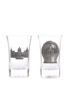 Set Of Two Taj Mahal And Aamchi Mumbai Shot Glasses - The Bombay Store