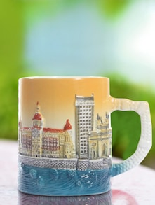Mumbai Sunset Ceramic Coffee Mug - The Bombay Store