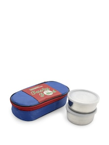Lunch Box Set With Cover- Set Of 2 - SKI Homeware
