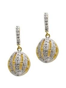 Circular Mustard Stone Earrings - Aradhyaa Jewel Arts