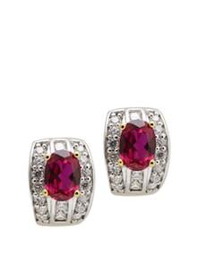 Bold Ruby Earrings - Aradhyaa Jewel Arts
