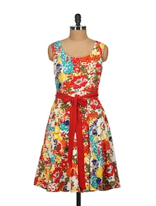 Multicolor Floral Dress - Tops And Tunics