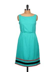 Blue Sheath Dress - Tops And Tunics