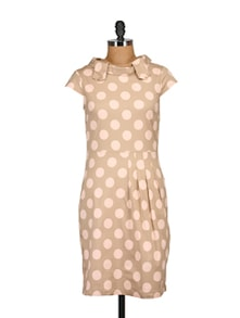 Polka Dot Sheath Dress - Tops And Tunics