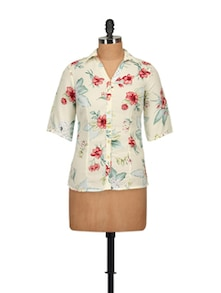 Floral Print Shirt - Tops And Tunics