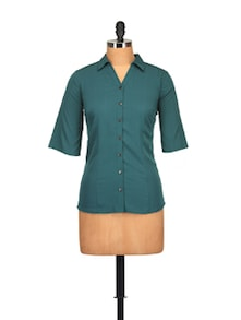 Classic Teal Blue Shirt - Tops And Tunics