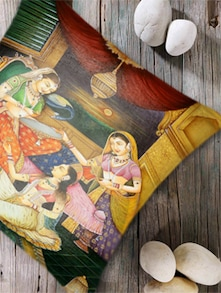 Digital Print  'Indian Princess' Cushion Cover- Set Of 5 - Belkado