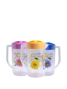 Printed Plastic Water Jug Set Of 3 - SKI Homeware