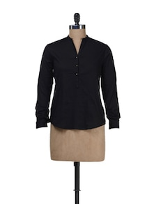 Black Cotton Shirt - Besiva