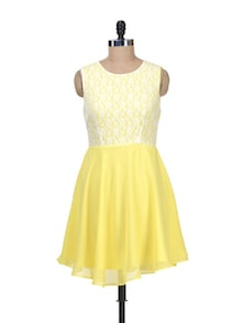 Yellow Lace Dress - Besiva