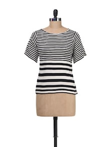 Black&White Striped Top - Besiva