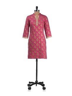 Pretty In Pink Kurta - Cotton Curio