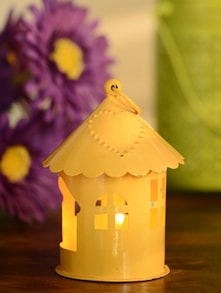 Bird Cage Shaped T-light Holder- Yellow - Color Palette