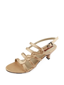 Gold Strappy Sandals - Balujas