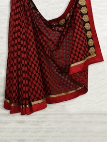 Elegant Red & Black Handloom Patola Saree - SATI