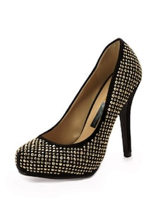 Pheddies black Stud by stud embellished stilettos