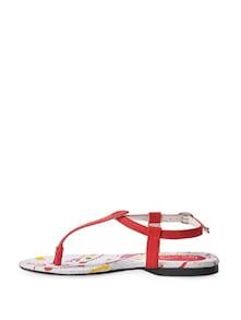 Elegant Red T-Straps - La Briza