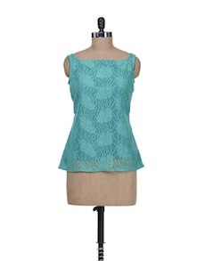Green Lace Top - Kapade