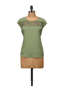 Olive Lace Magic Top - Harpa