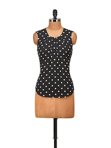 Black & White Polka Top - Harpa