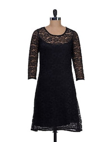 Elegant Black Net Dress