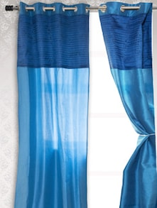 Solid Blue Door Curtain - HOUSE THIS