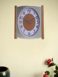 White And Brown Wall Clock - Birde