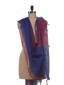 Two-tone Cotton Dupatta - Nanni Creations
