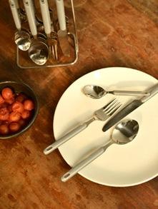 Grey Cutlery Set- 25 Piece - Elegante