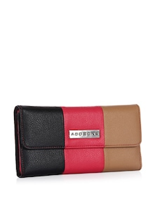 3-Way Colour Blocking PU Flap Wallet - Addons