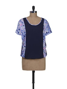 Printed Top With A Front Panel - Kaxiaa