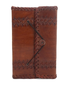 Leather Etched Front Lock Standard Journal - Pulpypapaya