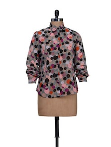 Circle Print Shirt - HERMOSEAR