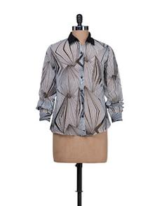 Geometric Print Shirt - HERMOSEAR