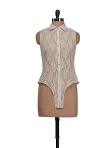 Cream Lace Shirt - HERMOSEAR