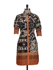 Printed Shirt Dress - HERMOSEAR