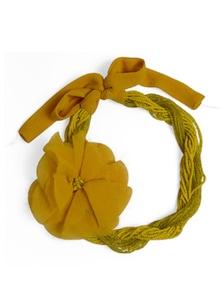 Dual Tone Yellow Necklace - Schwof