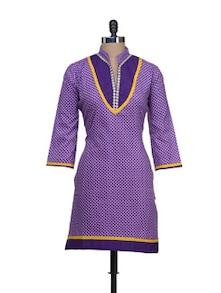 Elegant Purple Printed Kurta - Vani