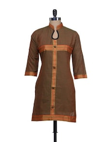 Stylish Brown & Orange Kurta - Vani