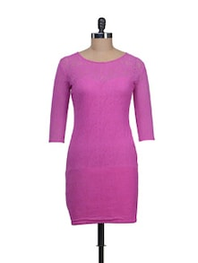 Chic Lilac Bodycon Dress - Reen's