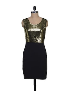 Black & Gold Party Dress - Reen's