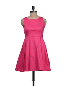 Candy Pink Frock Style Dress - Reen's